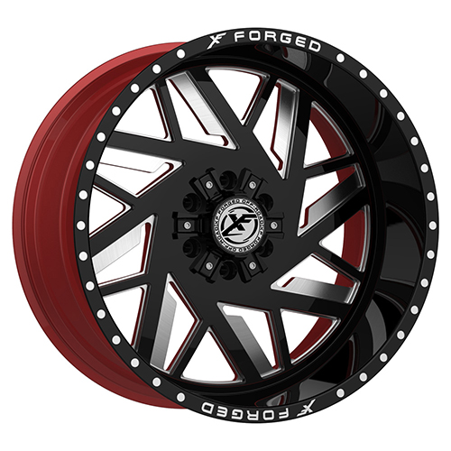 XF Forged XFX-306 Black Red Machined Photo